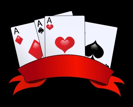 joker card: vector retro card suits   Illustration