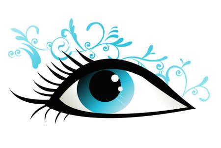 blue vector eye Stock Vector - 14347955