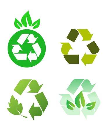 recycling symbol: Vector recycle signs
