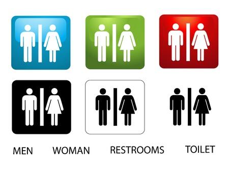 simbolo uomo donna: Donne e vetrine Uomo Vettoriali