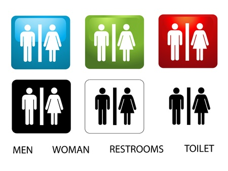 watercloset: Womens and Mens Toilets