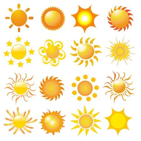 set van zon vector