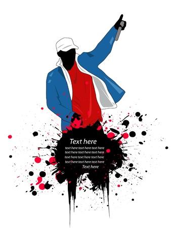 rapper illustration   イラスト・ベクター素材