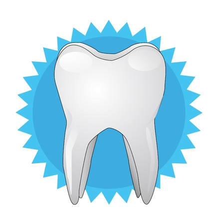 illustration of white tooth Stock Vector - 14678747