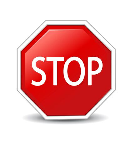 illustration of Stop sign  Stock Vector - 14678744