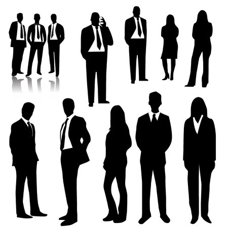 silhouette america: Business people