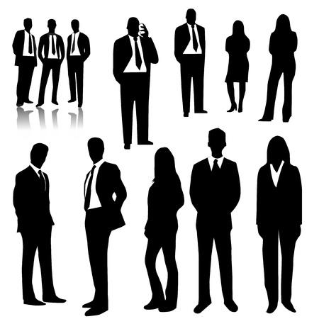 silhouette femme: Les gens d'affaires Illustration