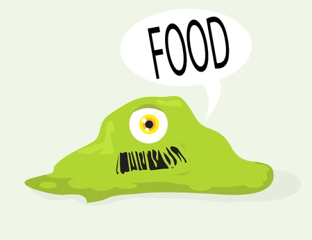 greedy:  monster saying food