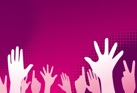 clubbing mensen hand omhoog Stockfoto - 15130037