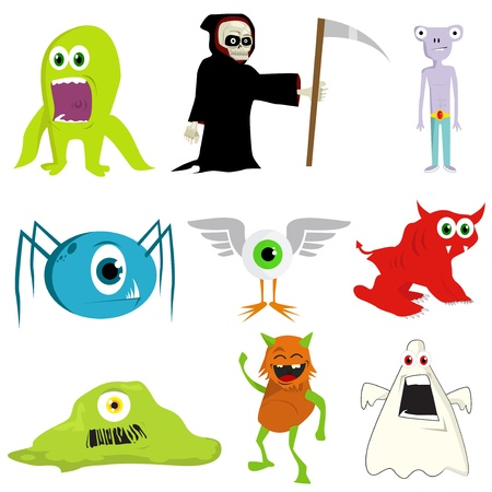 Illustration of monsters Stock Vector - 15130039