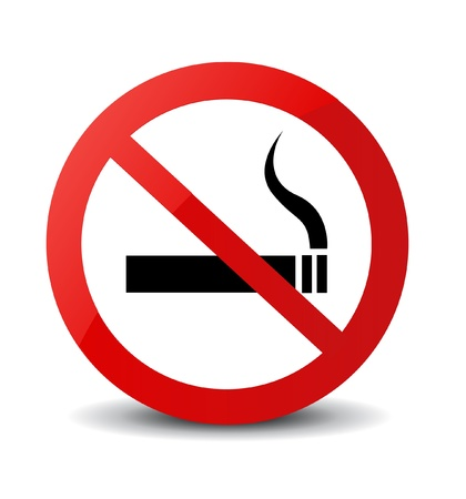 no problems: No Smoking Sign  Illustration