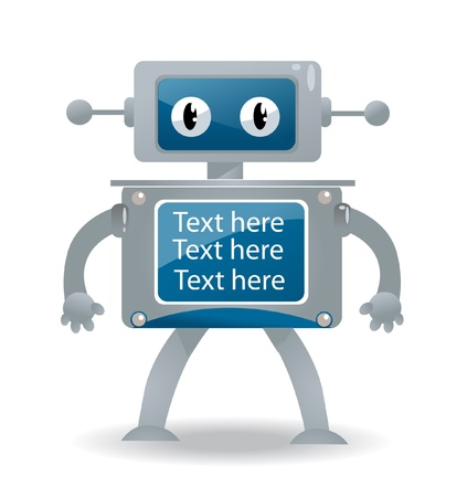 cute robot: Cartoon vector illustration of a robot