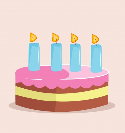 Sweet cake for birthday holiday Stock Vector - 15448077