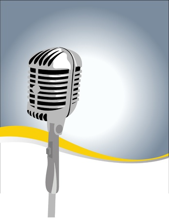 talk show:  microphone Illustration