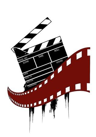 movie clapper: Movie clapper board