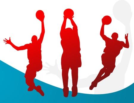 basket ball: Basketball players