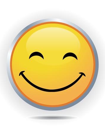 Smiley on white 向量圖像