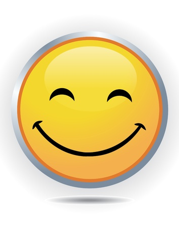 Smiley on white Illustration