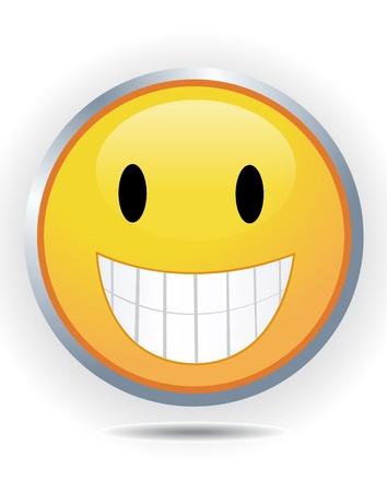 friendliness: Smiley on white