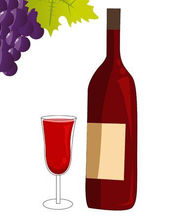 sauvignon: red wine   Illustration