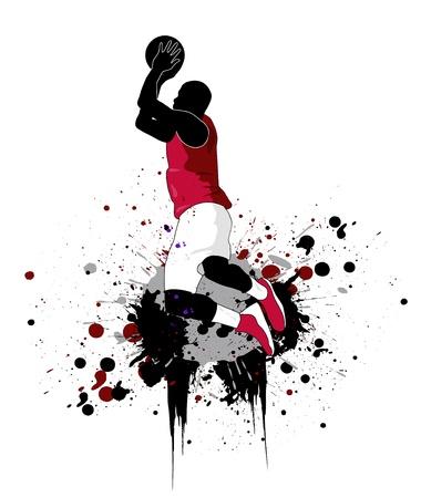 결정된: 농구 선수 일러스트