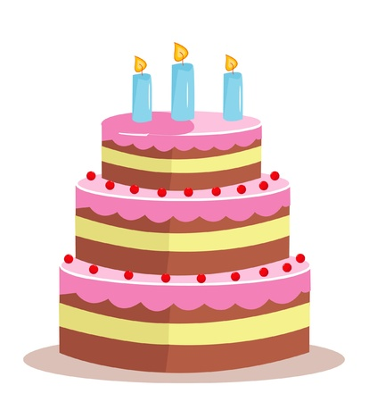 Sweet cake for birthday holiday Stock Vector - 16235698
