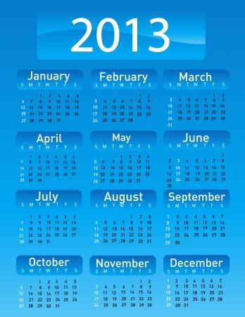 2013 calendar  Stock Vector - 16574664