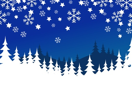 flakes: blue christmas background