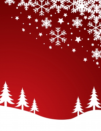 snow field: Christmas background