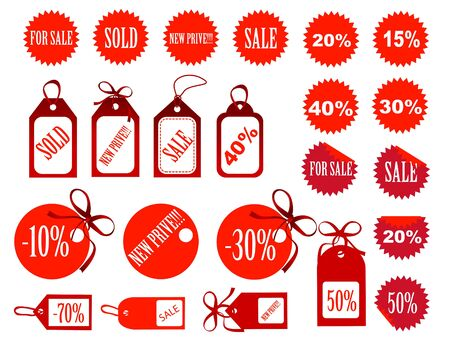 set of tags fully editable Stock Vector - 16594924