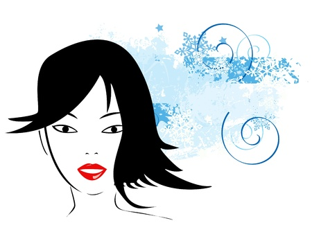 Snowflakes design with girl Stock Vector - 16594938