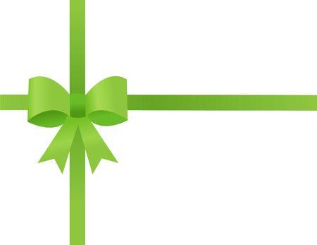 green ribbon on white Stock Vector - 16594911