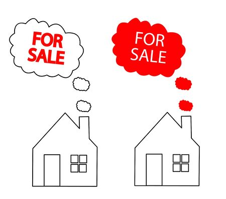 home value: house for sale Illustration