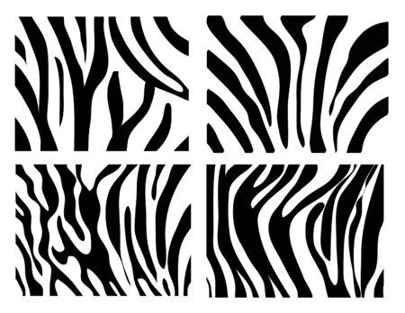 set of zebra texture Black and White Stock Vector - 17209269