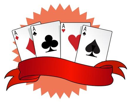 jeu de carte: combinaisons de cartes rétro Illustration