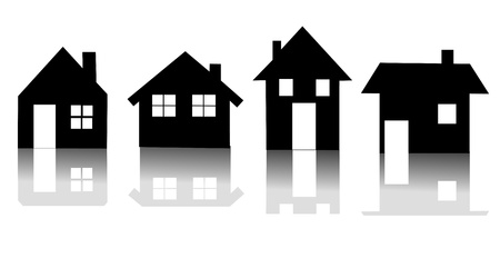 Set of house icon  illustration Stock Vector - 17345048