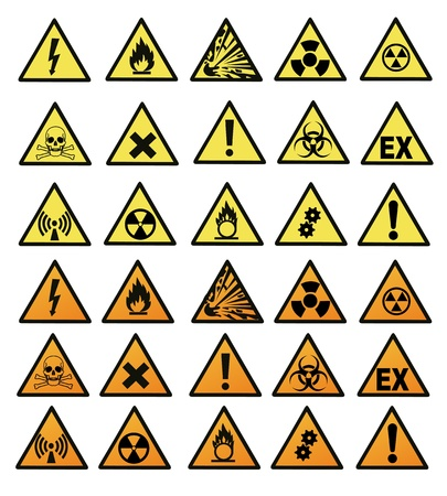 Chemical hazard signs  illustration Stock Vector - 17345057