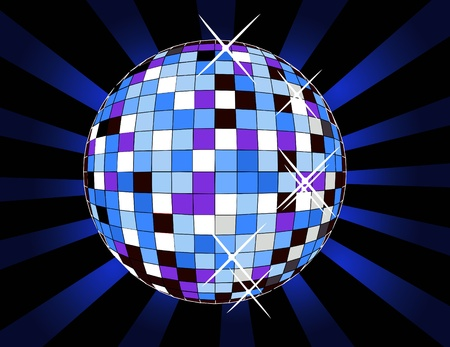 retro disco ball, illustration Stock Vector - 17345039