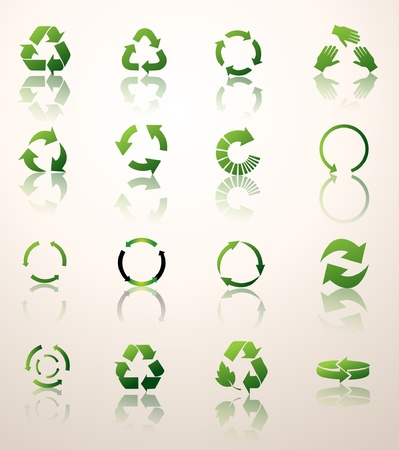 recycle icons   Stock Vector - 17345055
