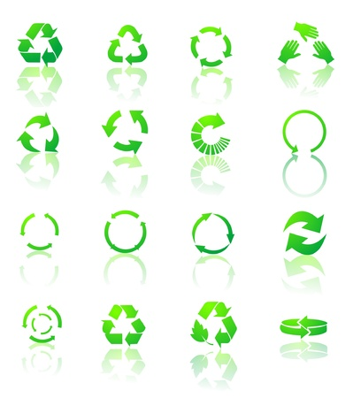 recycle icons Stock Vector - 17345053