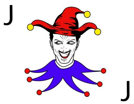jolly: joker playing card Illustration