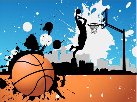 basket ball: Basketball player  Illustration