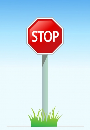 illustration of Stop sign  Stock Vector - 17562368