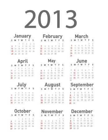 2013 calendar  Stock Vector - 18001653