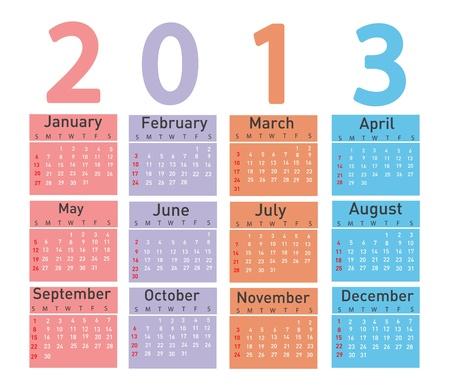 2013 calendar Stock Vector - 18001659