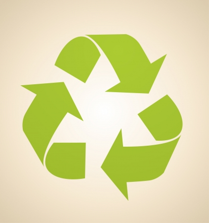 Vector recycle sign Vector