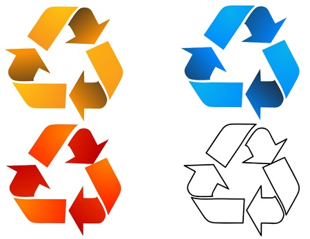 recycle sign: Vector recycle sign Illustration