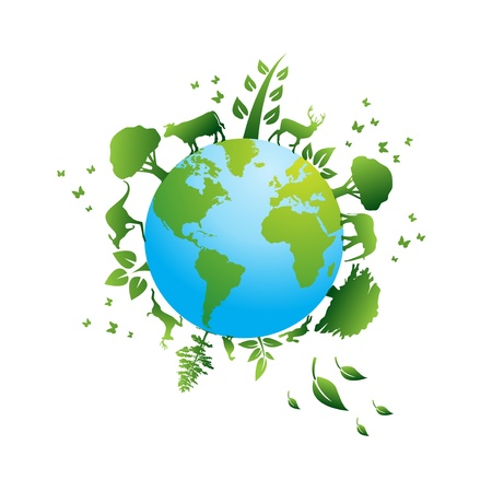 antipollution: environmental icons and design elements   Illustration