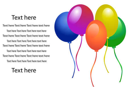 colored balloons: Balloons for party vector Illustration