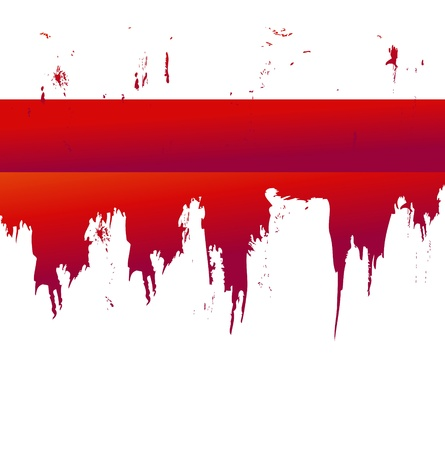 scruffy: blood splat Illustration